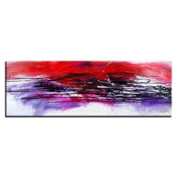 "Claude Monet ""Mohnfeld"" -Ölgemälde handgemalt Signiert Leinwand-Rahmen 82x112cm"
