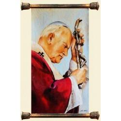 Religiöse Kunst Leinwand + Rahmen Kunstdruck 58x68 cm