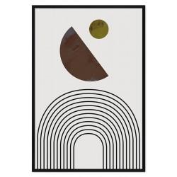 Sonnen Thema - Reproduktion-auf-Leinwand-50x40 cm