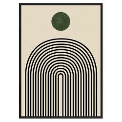 Sonnen Thema - Reproduktion-auf-Leinwand-50x70 cm