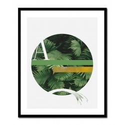 Wild Nature-Reproduktion-auf-Leinwand 90x45 cm