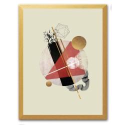 Gustav Klimt - Der Kuss - Kunstdruck mit Rahmen -29x34cm