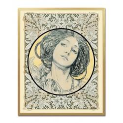Heilige Maria  - Ölgemälde handgemalt Signiert Leinwand-Rahmen 27x32cm