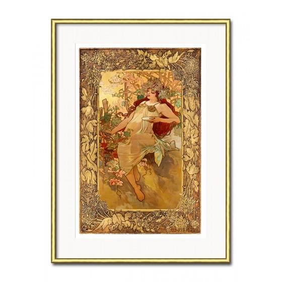 Heilige Maria - Ölgemälde handgemalt Signiert Leinwand-Rahmen 63x84cm