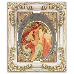 Heilige Maria - Ölgemälde handgemalt Signiert Leinwand-Rahmen 63x73cm