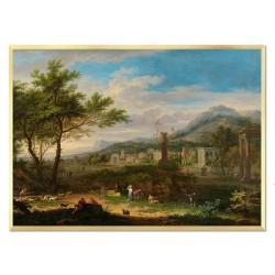 Andere Maler - Ölgemälde handgemalt Signiert Leinwand-Rahmen 27x32cm