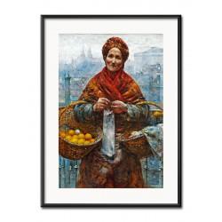 Gustav Klimt-Wasserschlangen-Ölgemälde handgemalt mit Rahmen Signiert 105x75cm