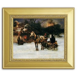 Gemälde alter Meister - Kunstdruck mit Rahmen - 27x31cm