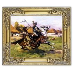 Gemälde alter Meister - Kunstdruck mit Rahmen - 26x31cm