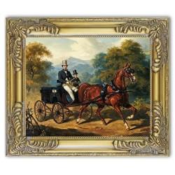 Gemälde alter Meister - Kunstdruck mit Rahmen - 24x30cm