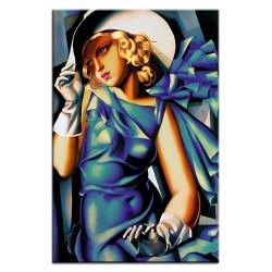 Gemälde alter Meister - Kunstdruck mit Rahmen - 27x32cm