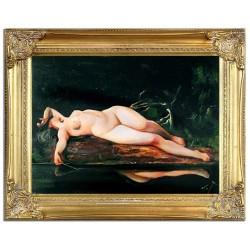 "Tamara de Lempicka ""Sommer, mitten im Sommer""-Ölgemälde handgemalt Signiert 40x50cm"