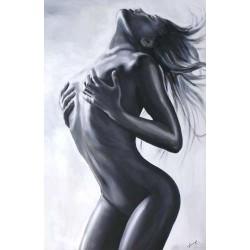 Tamara de Lempicka-Ölgemälde handgemalt Signiert 60x90cm