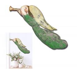 Gemischte Bouquets-Holz-Signiert 22x22cm
