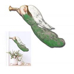 Gemischte Bouquets-Holz-Signiert 22x68cm