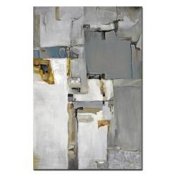 Abstraktion - Ölgemälde handgemalt Signiert holz + Rahmen 45x75 cm.