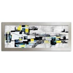 Abstraktion - Ölgemälde handgemalt Signiert 60x90 cm.
