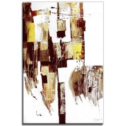 Abstraktion-Ölgemälde handgemalt Signiert Leinwand+Rahmen 61x71 cm.