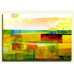 Abstraktion-Ölgemälde handgemalt Signiert Leinwand+Rahmen 64x84 cm