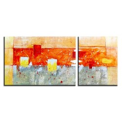 Abstraktion - Ölgemälde handgemalt Signiert 50x150cm