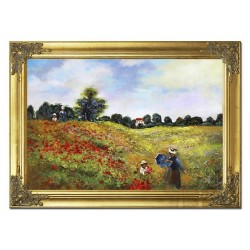 Mohnblumen-Holz-Signiert 22x68cm