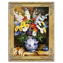 Róże-skóra + rama, olej, 25x30cm