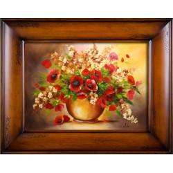 Sonnenblumen- Ölgemälde handgemalt Signiert Leinwand+Rahmen 27x32cm