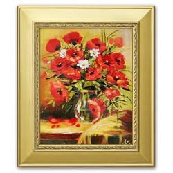 Sonnenblumen - Ölgemälde handgemalt Signiert Leinwand-Rahmen 37x47cm