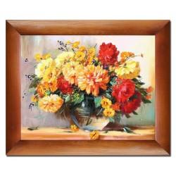 Tulpen - Ölgemälde handgemalt Signiert Leinwand-Rahmen 37x47cm