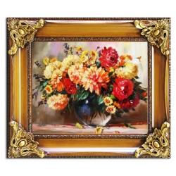 Tulpen - Ölgemälde handgemalt Signiert Leinwand-Rahmen 43x48cm