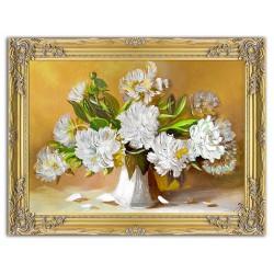 Tulpen - Ölgemälde handgemalt Signiert Leinwand-Rahmen 64x84cm