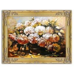 Polnische Malerei - Ölgemälde handgemalt Signiert Leinwand-Rahmen 37x47cm