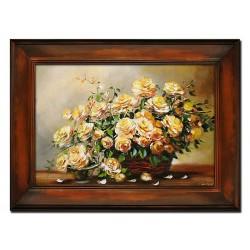 Polnische Malerei - Ölgemälde handgemalt Signiert Leinwand-Rahmen 64x84cm