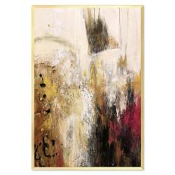 Engel Holz- Ölgemälde handgemalt 14x50cm