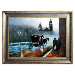 Traditionelle Landschaften - Ölgemälde handgemalt Signiert Leinwand-Rahmen 27x32cm