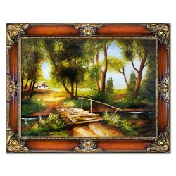 Jesus Christus - Ölgemälde handgemalt Signiert Leinwand-Rahmen 27x32cm