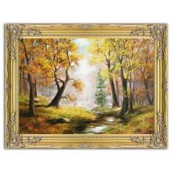 Jesus Christus - Leinwand mit Holz mit Rahmen-  50x62cm