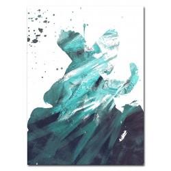 "Gustav Klimt ""Kuss""- Ölgemälde handgemalt Signiert Leinwand-Rahmen 61x71cm"