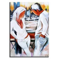"""Alfons Mucha """"Painting""""-reprodukcja płótno w ramie 27x32cm"""