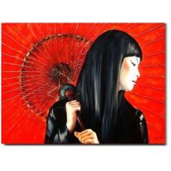 "Alfons Mucha ""Chocolat Ideal""-reprodukcja płótno 50x70 cm"