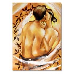 """Alfons Mucha """"Bières de la Meuse""""-reprodukcja płótno 90x60 cm"""