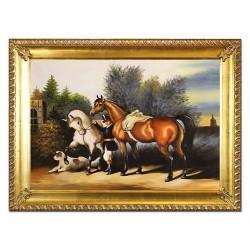 Hunde und Katzen - Reproduktion - 60x60cm