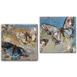 Landschaften - Reproduktion - auf - Leinwand  - 150x50 cm