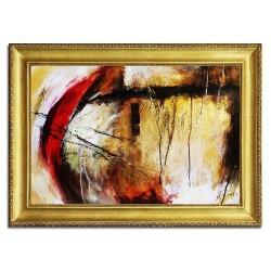 Die Impressionisten-Ölgemälde handgemalt Signiert Leinwand-Rahmen 80x44cm