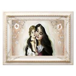 Polnische Maler - Reproduktion auf Leinwand+Rahmen 27x32 cm
