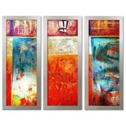"""Claude Monet """"Wasserlilien""""-Ölgemälde handgemalt Signiert Leinwand-Rahmen 75x105cm"""