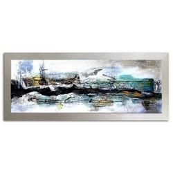 """Vincent van Gogh """" Vase Iris""""-Ölgemälde handgemalt Signiert Leinwand-Rahmen 75x105cm"""